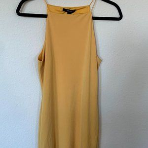 Forever 21 Dress Mustard Yellow M